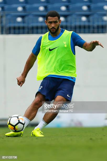 Tottenhamp Hotspur Cameron CarterVickers in action during the Tottenham Hotspur training session at Nissan Stadium on July 28 2017 in Nashville...