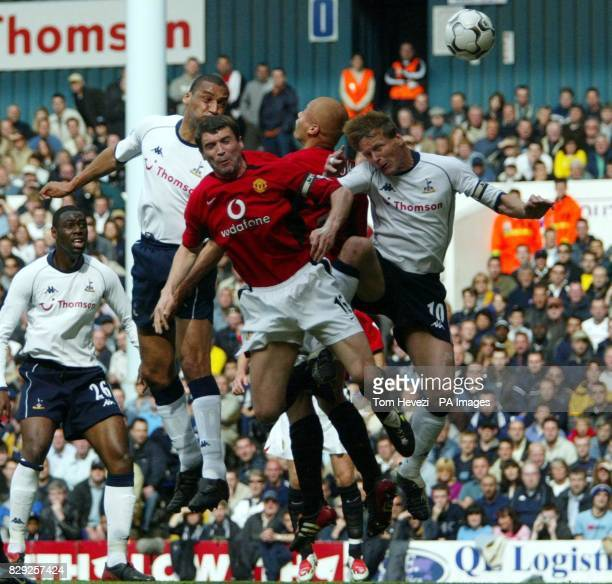 Tottenham's Dean Richards goes for goal but it's wide during their Barclaycard Premiership match at White Hart Lane THIS PICTURE CAN ONLY BE USED...