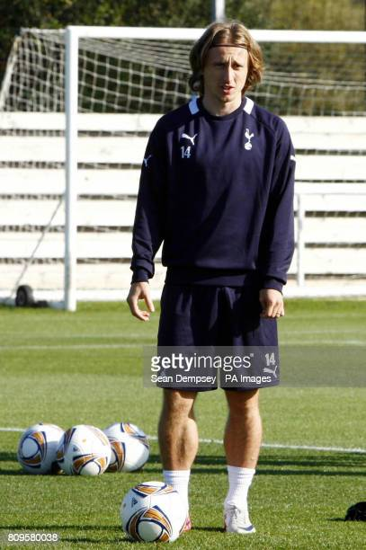 Tottenham's Luka Modric during a training session at Spurs Lodge London