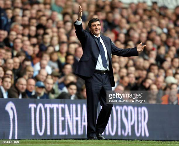 Tottenham's manager Juande Ramos during the Barclays Premier League match at White Hart Lane London