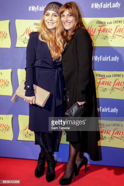 Tottie Goldsmith and Ally Fowler arrives ahead of opening night of My Fair Lady at Regent Theatre on May 16 2017 in Melbourne Australia