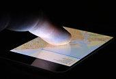 Touch screen map navigation