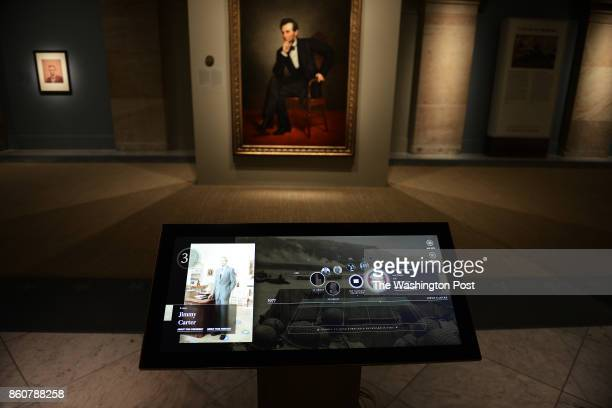 Touch screen providing the visitor with additional background information of the lives of the presidents are part of the upcoming reopening of The...