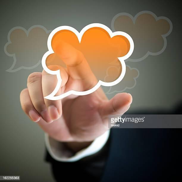 Touch Screen-Conversation Speech Bubbles