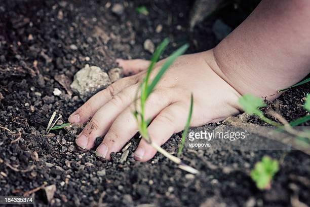 Toucher la terre