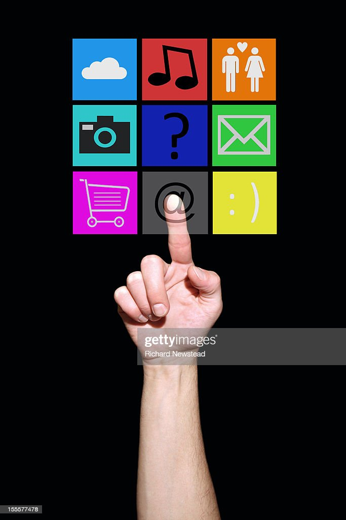 Touchscreen Choices : Stock Photo