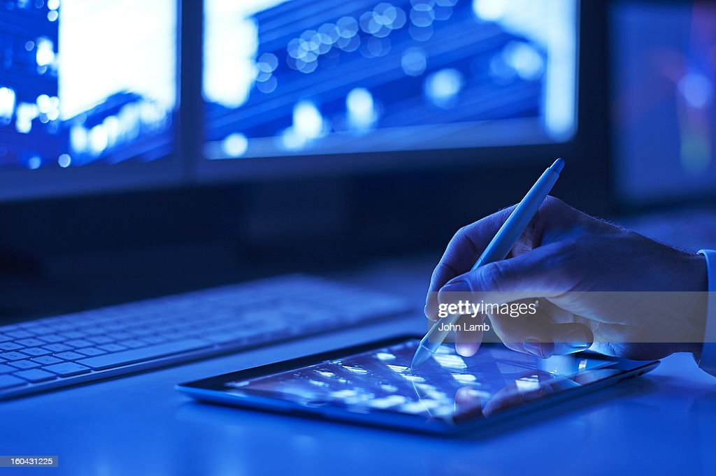 Touchscreen technology : Stock Photo