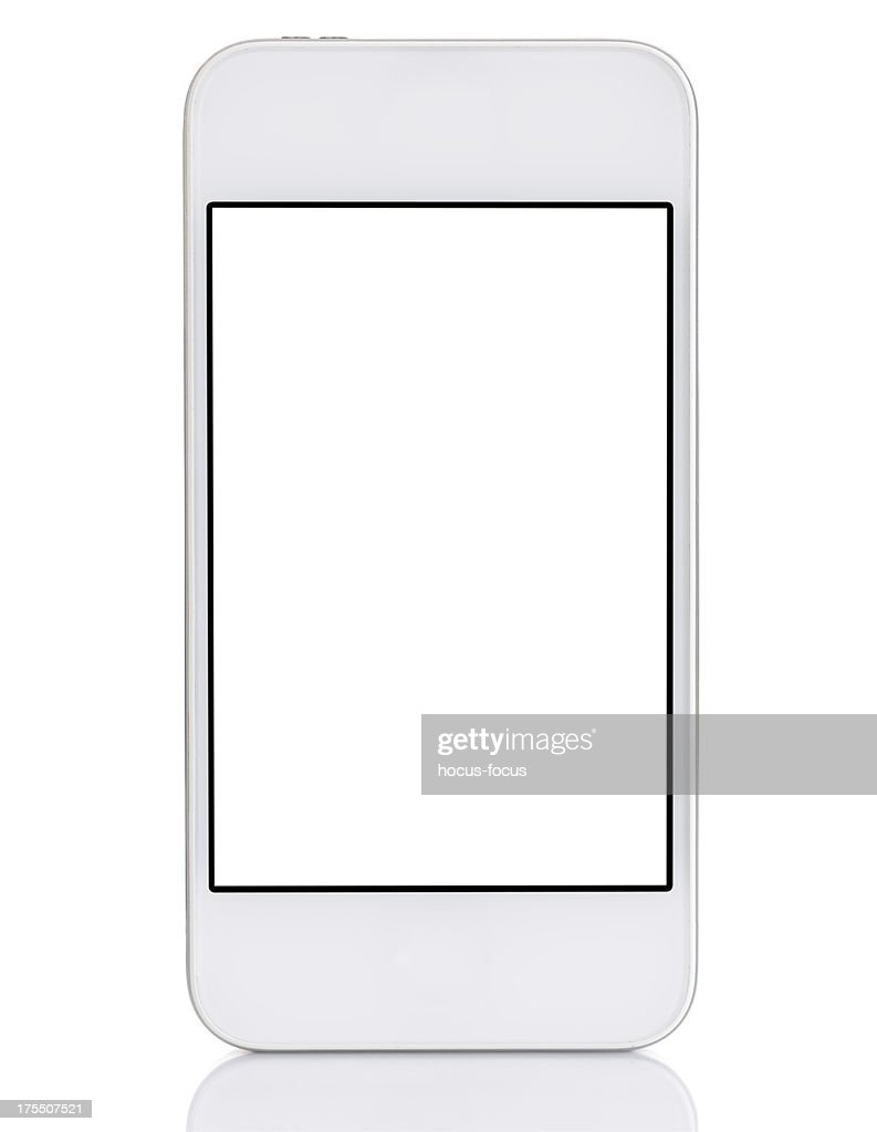 Touchscreen white smart phone