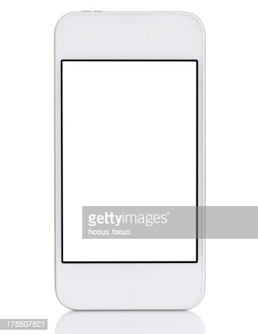 Touchscreen white smart phone