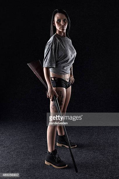 Tough And Armed Woman