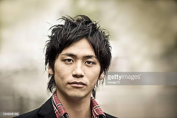 Tough Young Asian Guy Portrait