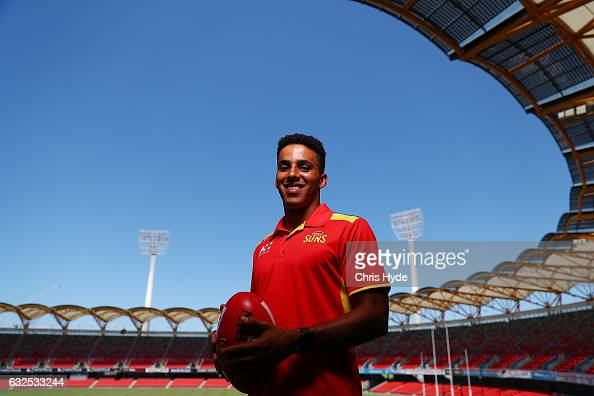 Touk Miller poses during a Gold Suns AFL media opportunity on January 24 2017 in Gold Coast Australia