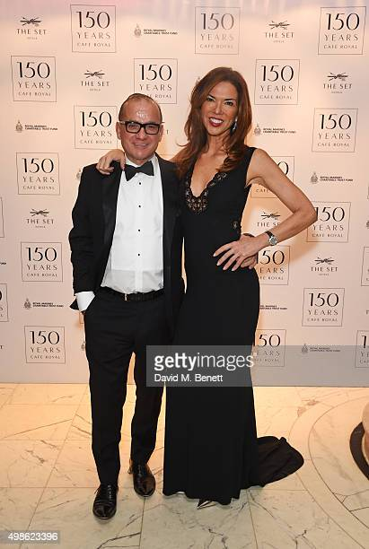 Touker Suleyman and Heather Kerzner attend the Royal Marines Boxing Bout at Cafe Royal in celebration of their 150th Anniversary on November 24 2015...