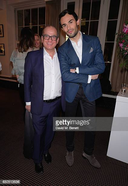 Touker Suleyman and Mark Francis Vandelli attend Debrett's 500 Gala at BAFTA sponsored by BMW and Hugo Boss on January 23 2017 in London England