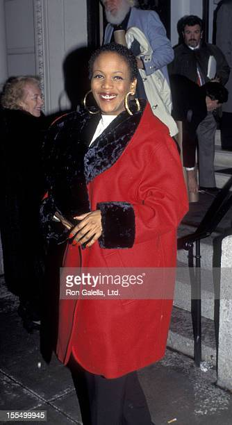 Toukie Smith attends the opening of Paintings by Robert De Niro Sr on January 7 1995 at SandlerO'Rielly Gallery in New York City