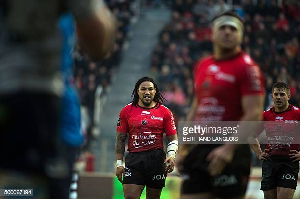RC Toulon's New Zealander centre Maa Nonu looks on during the French Top 14 rugby union match RC Toulon vs Agen on December 5 2015 at the Mayol...