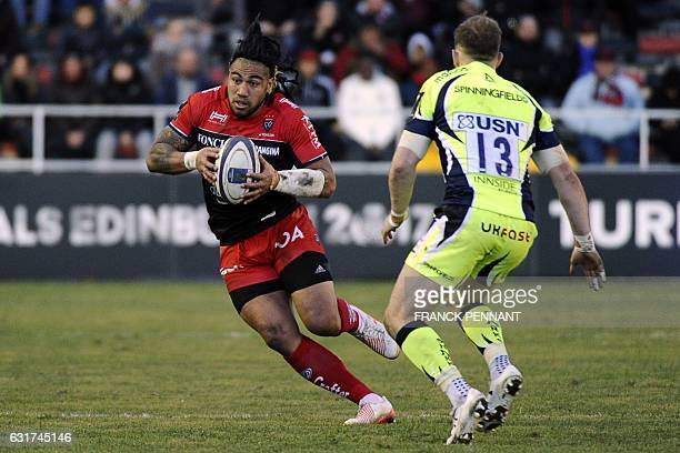 RC Toulon's New Zealander centre Ma'a Nonu runs with the ball during the European Rugby Champions Cup match between RC Toulon and Sale Sharks on...