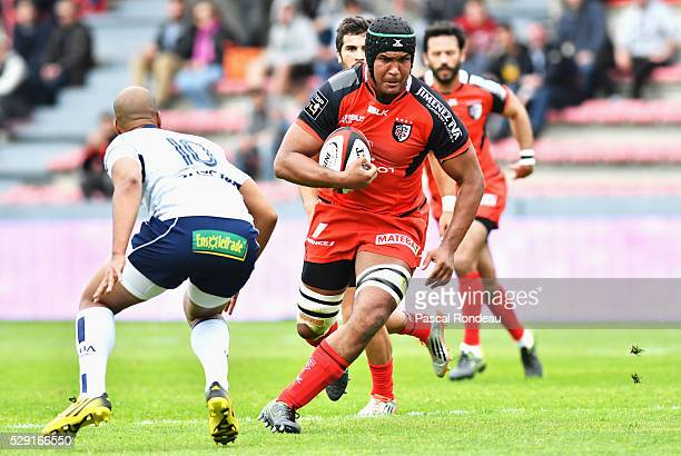 Toulouse captain Thierry Dusautoir in action during the French Top 14 rugby union match between Toulouse v Agen at Stade Ernest Wallon on May 8 2016...