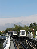 Toulouse Metro near the station 'Basso Cambo' VAL automatic rubbertired people mover technology Public transport