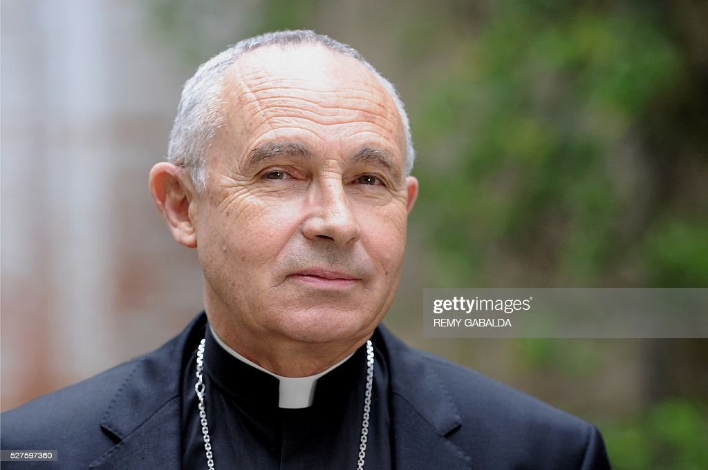 Toulouse's archbishop Robert Legal poses, on May 3, 2016 in Toulouse. / AFP / REMY