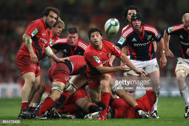 Toulouse's Byron Kelleher during the Heineken Cup Final at the Millennium Stadium Cardiff
