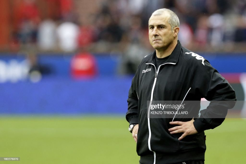 Toulouse's French coach Alain Casanova attends the French L1 football match between Paris Saint-Germain and Toulouse at the Parc des Princes Stadium in Paris on September 28, 2013. PSG won 2-0.