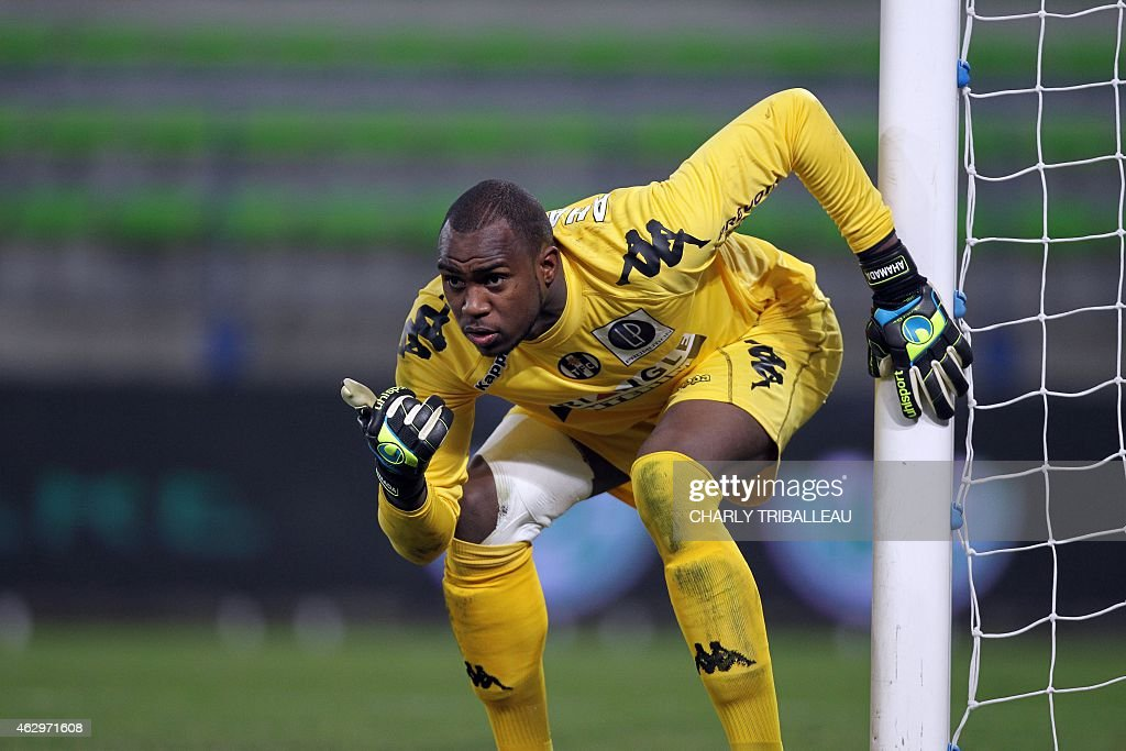 Toulouse's French Comorian goallkeeper <a gi-track='captionPersonalityLinkClicked' href=/galleries/search?phrase=Ali+Ahamada&family=editorial&specificpeople=7552244 ng-click='$event.stopPropagation()'>Ali Ahamada</a> is pictured during the French L1 football match between Caen (SM Caen) and Toulouse (TFC), on February 7, 2015, at the Michel d'Ornano stadium, in Caen, northwestern France. AFP PHOTO/CHARLY TRIBALLEAU