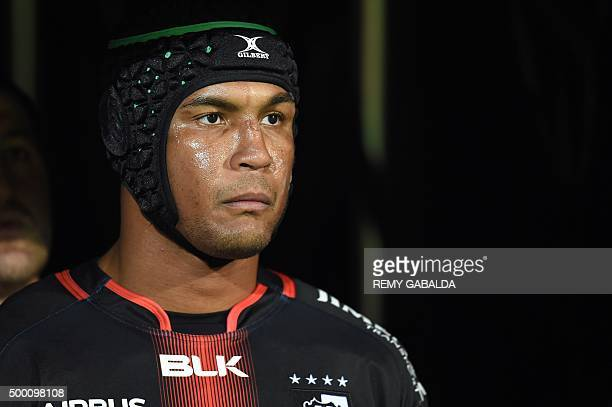 Toulouse's French flanker Thierry Dusautoir is pictured during the French Top 14 rugby Union match Toulouse vs Oyonnax on december 5 at the...