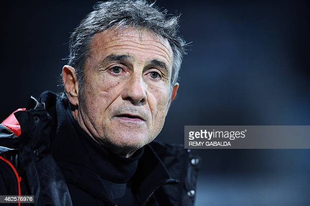 Toulouse's French General Manager Guy Noves stands on the field before the Top 14 rugby match Castres vs Stade Toulousain in Pierre Antoine Stadium...