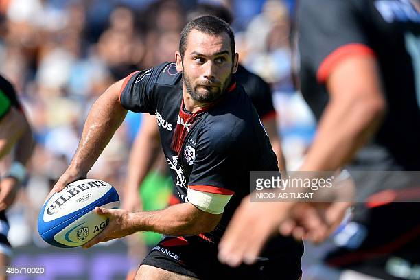 Toulouse's French scrumhalf JeanMarc Doussain runs with the ball during the French Top 14 rugby union match between Agen and Toulouse on August 29...