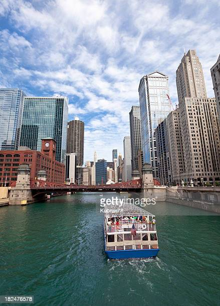 Tour Boat on Chicago River