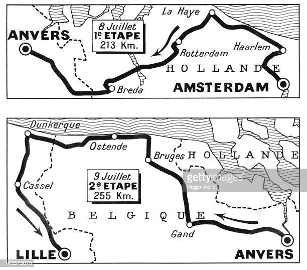 Tour de France 1st and 2nd stages from Amsterdam to Lille July 89