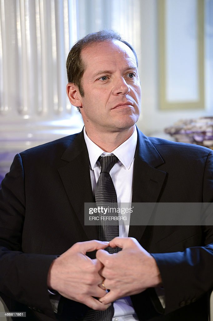 Tour de France and Paris-Nice cycling races' director Christian Prudhomme gives a press conference to present the 2014 Paris-Nice route, on February 4, 2014 in Versailles.This years 72nd edition runs from March 9 to 16 and will not feature an individual time trial stage nor a high mountain finish. AFP PHOTO / ERIC FEFERBERG