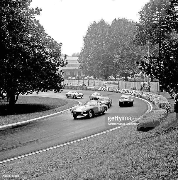 Tour de France Auto September 1825 1959 At Pau the Ferrari 250GT Interim of Jean Lucasleads a group of other Ferraris