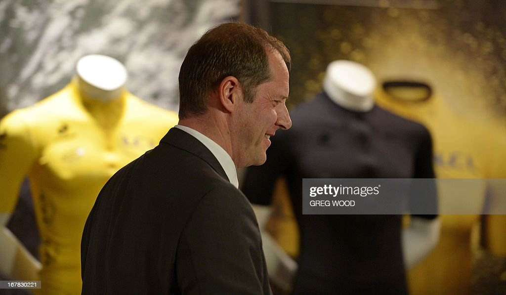Tour de France boss Christian Prudhomme attends at a press conference held to promote the 100th edition of the historic Tour de France cycling stage race in Sydney on May 1, 2013. Prudhomme on May 1 said the scandal-ridden sport of cycling had changed and is no longer 'the little ugly duckling' it is made out to be. The gruelling 21-stage 2013 event runs from June 29 to July 21.