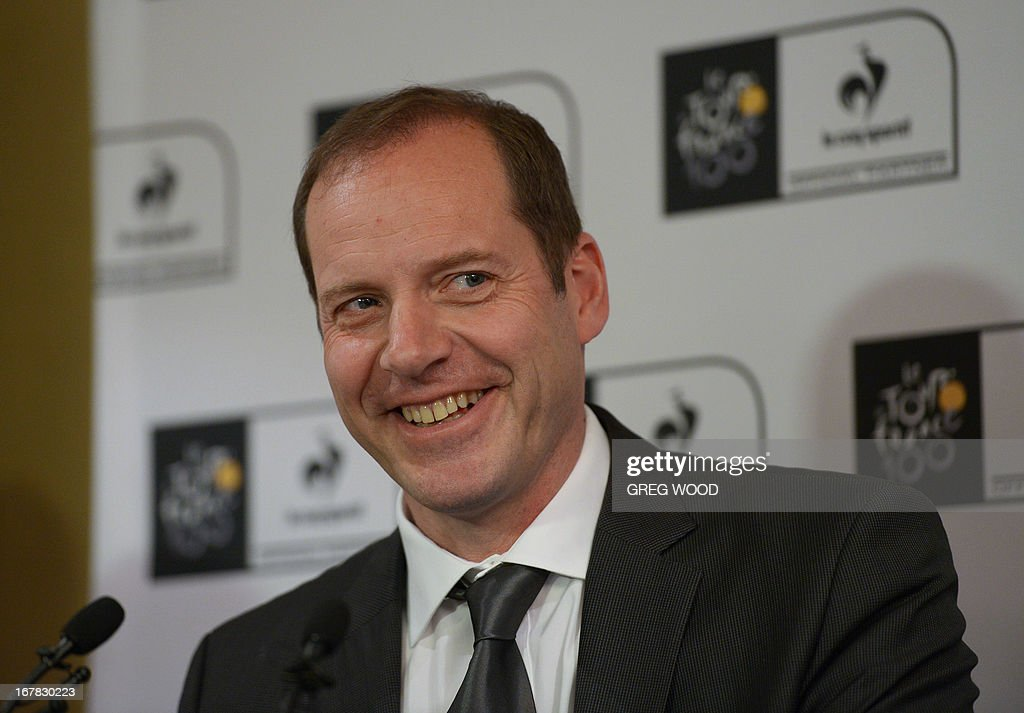 Tour de France boss Christian Prudhomme speaks at a press conference held to promote the 100th edition of the historic Tour de France cycling stage race in Sydney on May 1, 2013. Prudhomme on May 1 said the scandal-ridden sport of cycling had changed and is no longer 'the little ugly duckling' it is made out to be. The gruelling 21-stage 2013 event runs from June 29 to July 21.