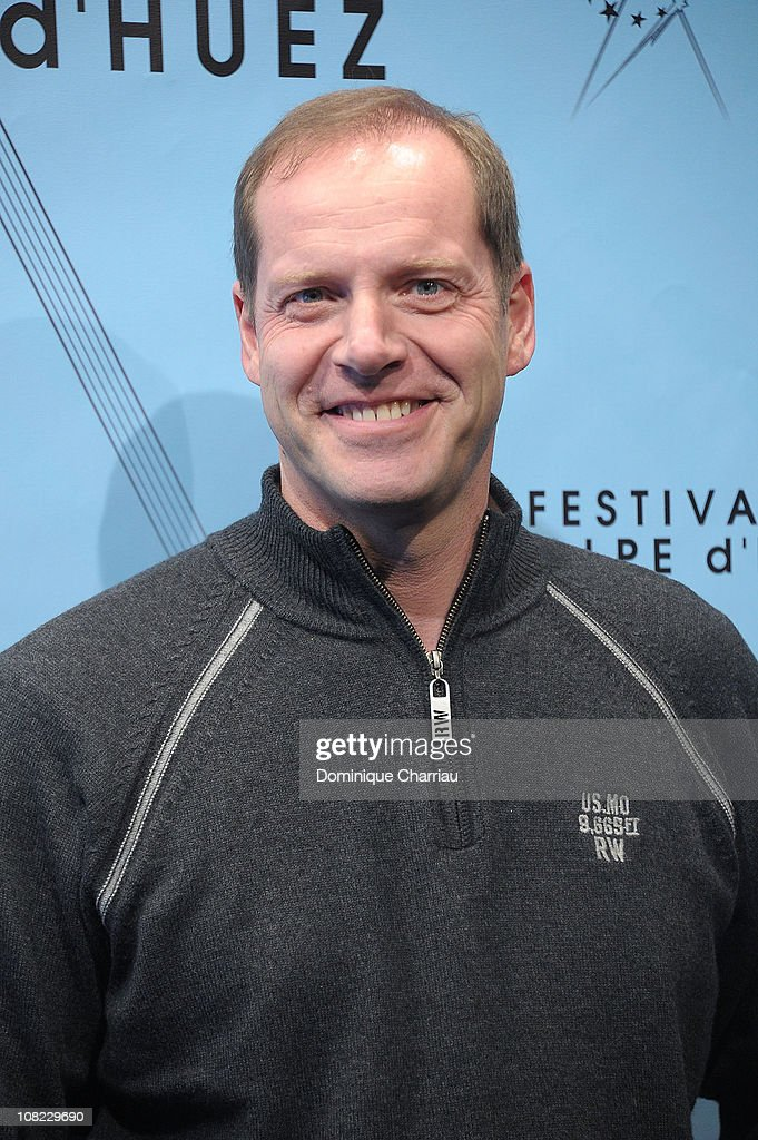Tour De France CEO <a gi-track='captionPersonalityLinkClicked' href=/galleries/search?phrase=Christian+Prudhomme&family=editorial&specificpeople=546988 ng-click='$event.stopPropagation()'>Christian Prudhomme</a> attends the 14th Film Festival Of L'Alpe D'Huez on January 21, 2011 in Alpe d'Huez, France.
