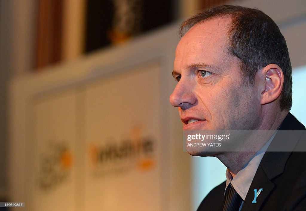 Tour de France director Christian Prudhomme speaks during a press conference to announce the routes for the 2014 Tour De France at Leeds Town Hall in Leeds, northern England, on January 17, 2013. The 2014 Tour de France will start with a stage between Leeds and Harrogate in the northern English county of Yorkshire on July 5, organisers of cycling's most prestigious and gruelling race announced.