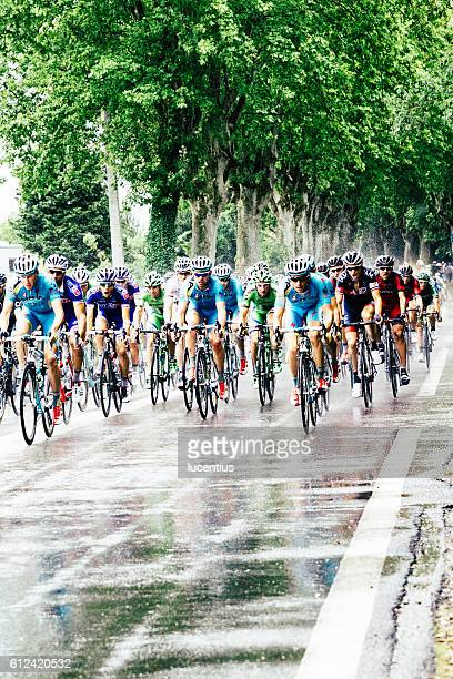 Tour de France in the rain, Provence, France, 2014