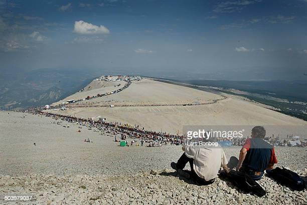 Tour de France stage 14 Spectators waiting for the riders on Mont Ventoux