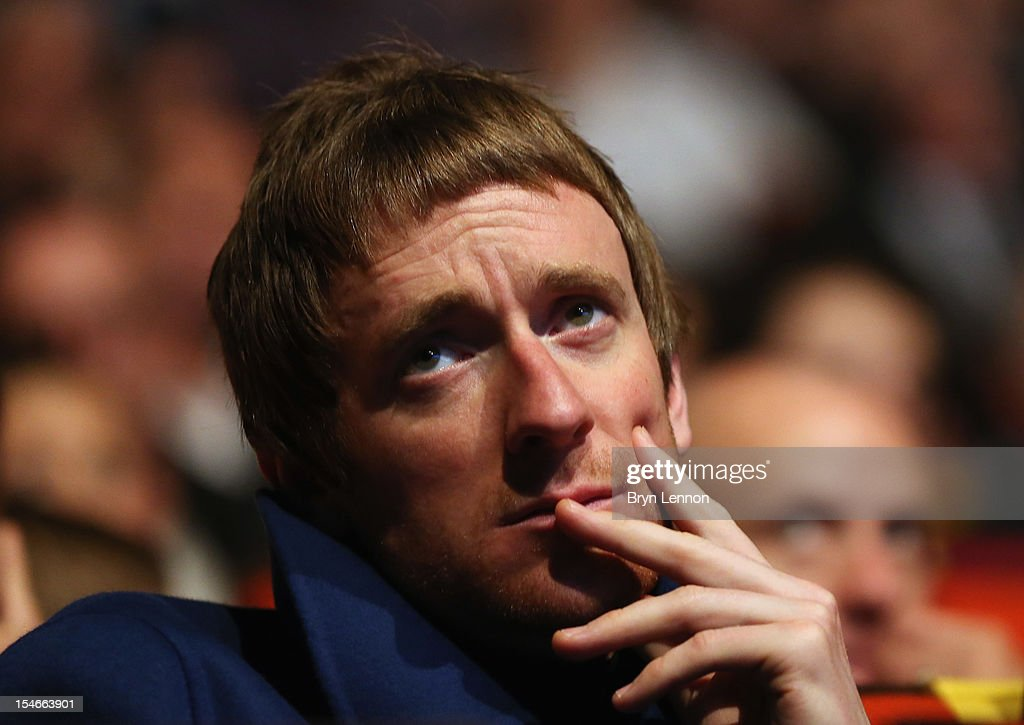 Tour de France winner Bradley Wiggins watches the 2013 Tour de France Route Presentation at the Palais des Congres de Paris on October 24, 2012 in Paris, France.
