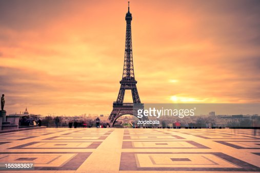 tour eiffel of paris at sunset stock photo getty images. Black Bedroom Furniture Sets. Home Design Ideas