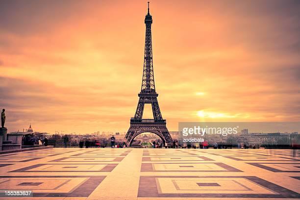 Tour Eiffel of Paris at Sunset