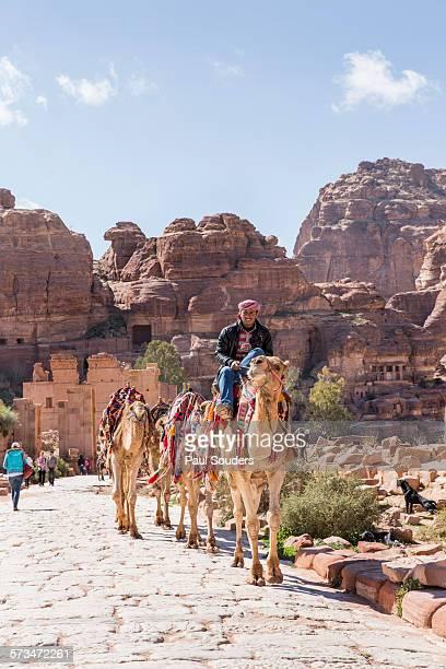 Tour Guide and Camel at Petra Ruins, Jordan