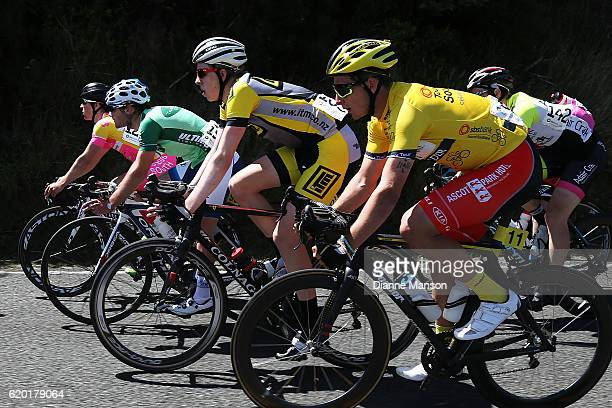 Tour leader Alex Frame of Christchurch makes his way to Coronet Peak from Mossburn during stage three of the 2016 Tour of Southland on November 02...