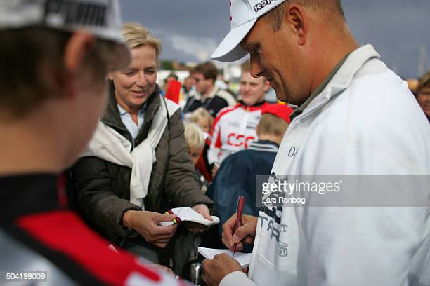Tour of Denmark stage 5 Bjarne Riis Team CSC and fans