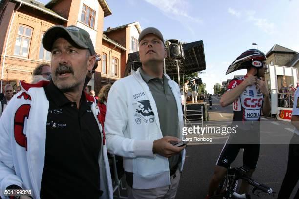 Tour of Denmark stage 5 Team CSC before the start B S Christiansen Bjarne Riis Jens Voigt