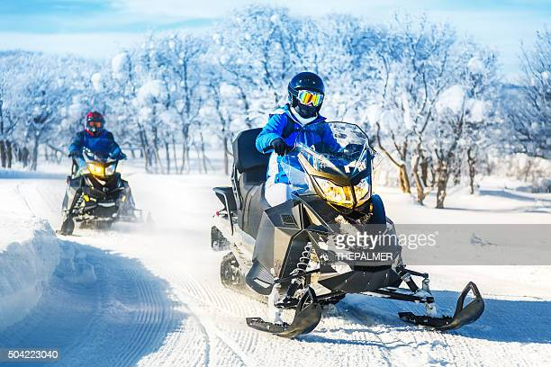 Tour on snowmobile