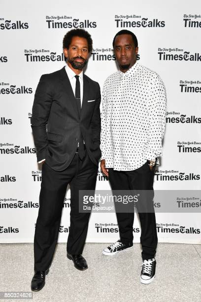 Toure and Sean 'Diddy' Combs attend TimesTalks Presents An Evening with Sean 'Diddy' Combs at The New School on September 20 2017 in New York City