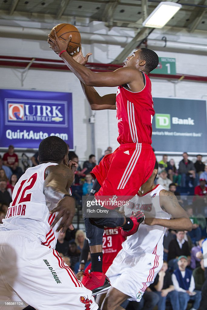 Toure Murry #9 of the Rio Grande Valley Vipers goes to the basket against the Maine Red Claws during the NBA D-League playoff game on Thursday, April 11, 2013 at the Portland Expo in Portland, Maine.